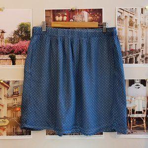 Alexander Jordan Polka Dot Chambray FullMini Skirt